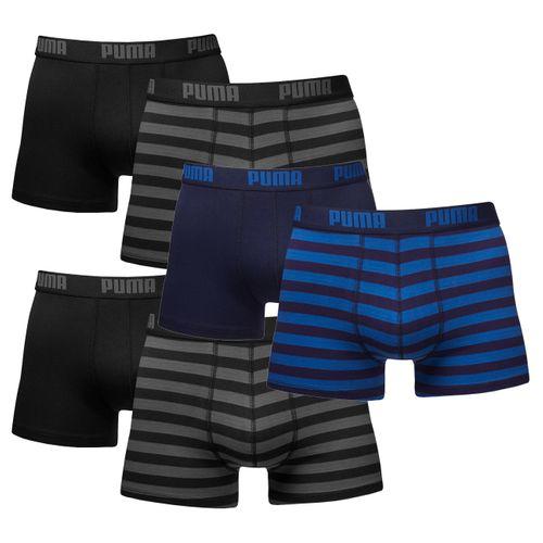 Puma Herren Boxershort Striped Boxer 6er Pack