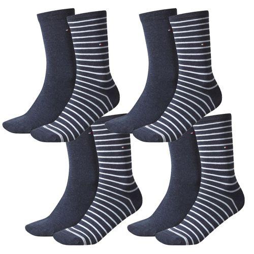 TOMMY HILFIGER Damen Socken Small Stripe Casual Socken 4er Pack
