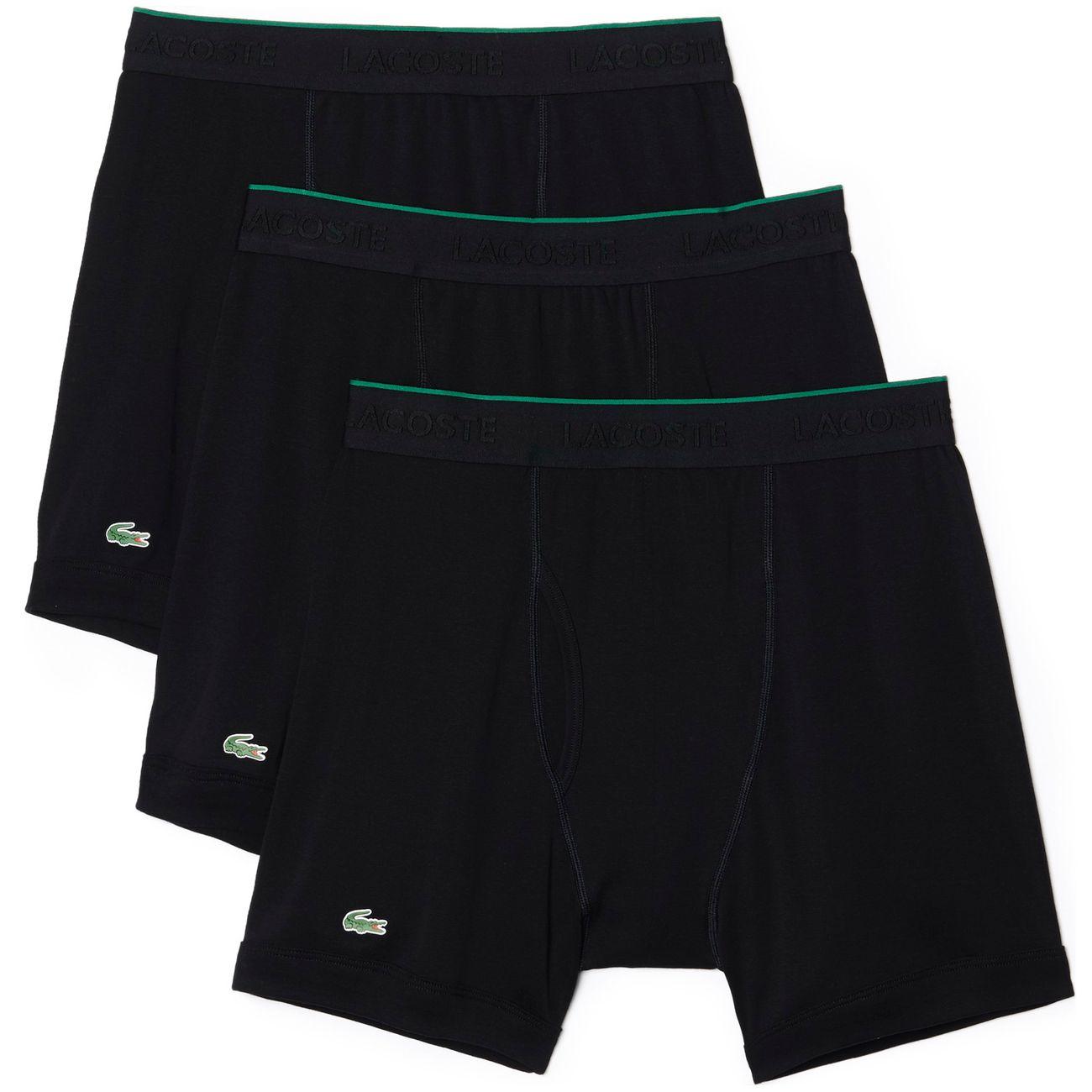 6d5af047b805f6 Lacoste Underwear Herren Boxershort Essentials Feinripp 3er Pack