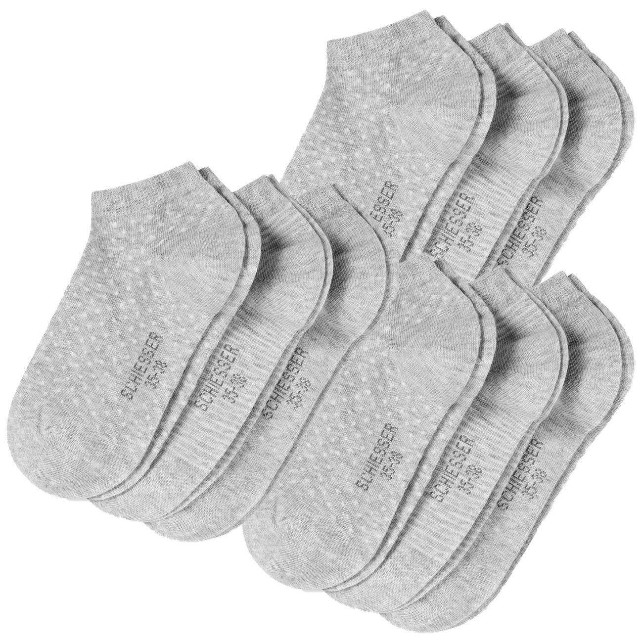 SCHIESSER Damen Sneaker Socken Cotton 9er Pack