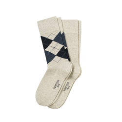 SCHIESSER Herren Socken Cotton Fit Argyle Fashion 2er Pack