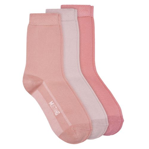 Mustang Damen Socken Basic Plated 3er Pack