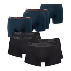 4 PUMA Herren Short Boxer Basic Boxershort + 4 HEAD Men Boxershort Basic Boxer