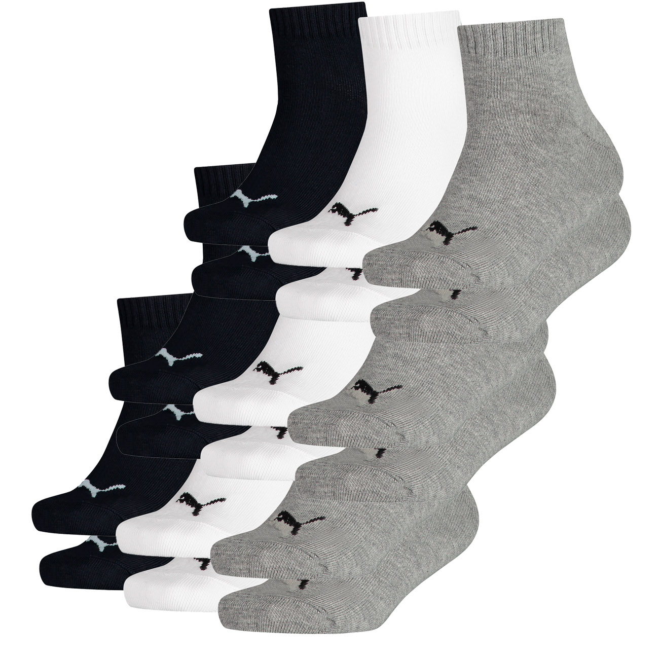 PUMA Kids Quarter Junior Quarters Socken Vorteilspack 9er