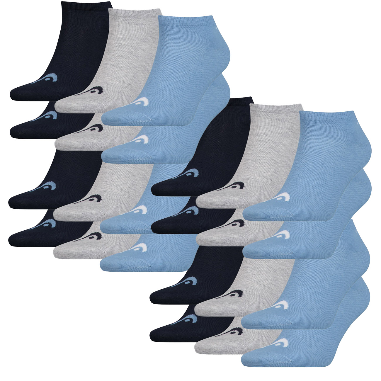 HEAD Unisex Sneaker Sportsocken 12er Pack