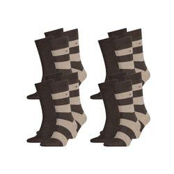 TOMMY HILFIGER Herren Rugby Socken Vorteilspack - 4er oder 8er Pack