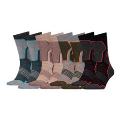 HEAD Unisex Hiking Crew Sportsocken Vorteilspack - 4er oder 8er Pack