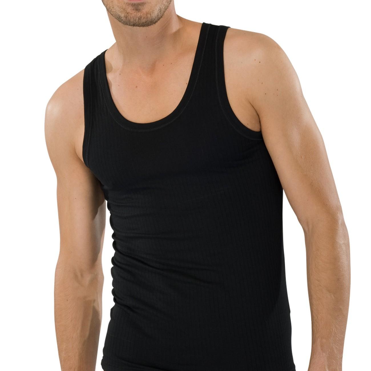 on sale 9b634 c6d3b SCHIESSER Herren Achsel-Shirt Authentic 2er Pack
