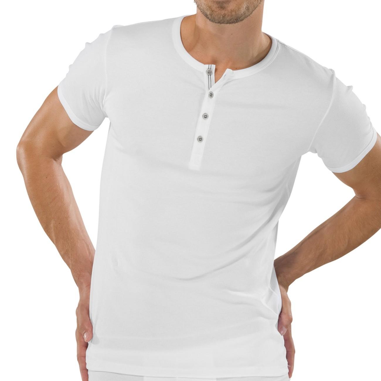 b3c0987fee SCHIESSER Herren T-Shirt mit Knopfleiste Naturbursche 1er Pack