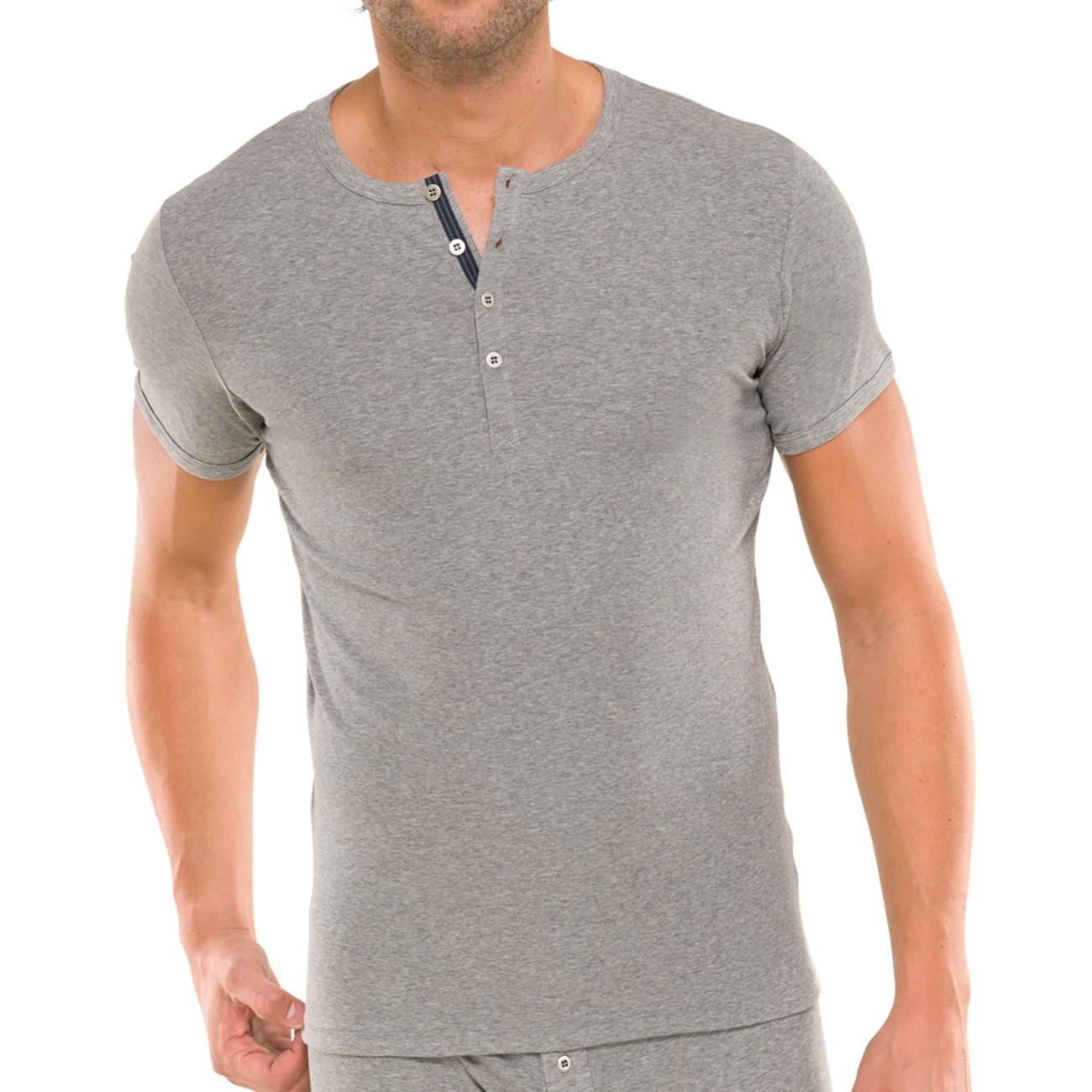 schiesser herren t shirt mit knopfleiste naturbursche 1er pack. Black Bedroom Furniture Sets. Home Design Ideas