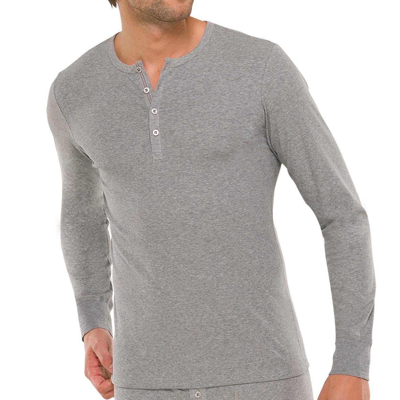 weltweite Auswahl an kostenloser Versand neues SCHIESSER Herren Langarm-Shirt mit Knopfleiste Naturbursche 1er Pack