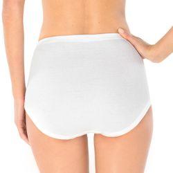 SCHIESSER Damen Taillenslip Maxi Feinripp 000005 4er Pack