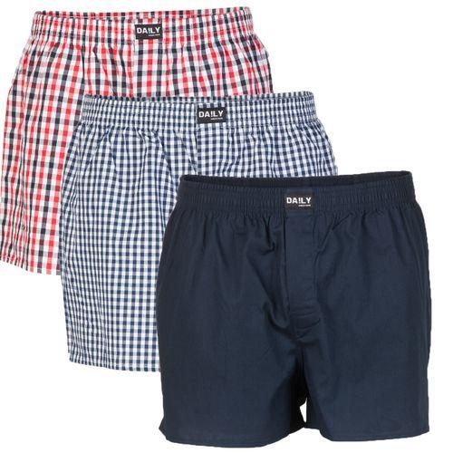 Daily Underwear Herren Webboxer Boxershorts 3er Pack
