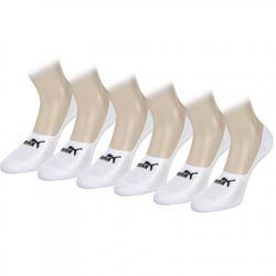 PUMA Unisex Footies 141011001-300 Sportsocken 6er Pack white
