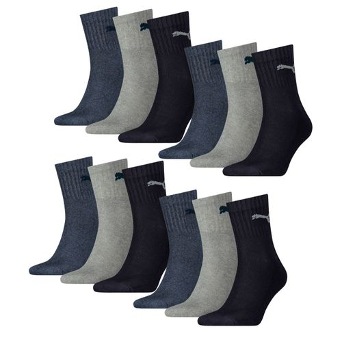 Puma Unisex Short Crew Socken Basic Sportsocken 12er Pack