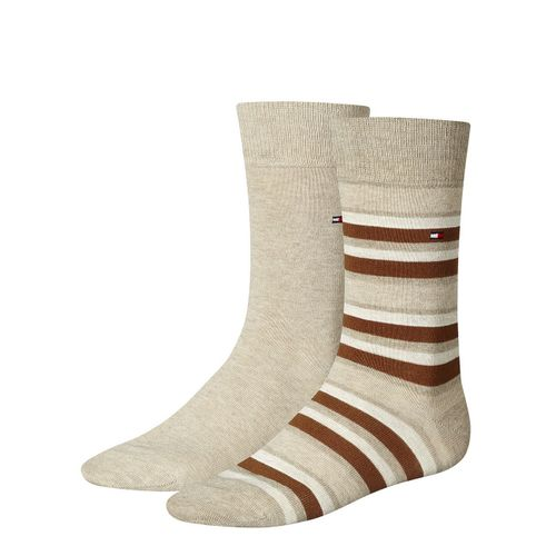 TOMMY HILFIGER Herren Socken Variation Stripe Casual Socken 2er Pack