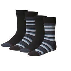 TOMMY HILFIGER Herren Socken Variation Stripe Casual Socken 4er Pack
