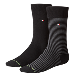 TOMMY HILFIGER Herren Socken Small Stripe Casual Socken 2er Pack