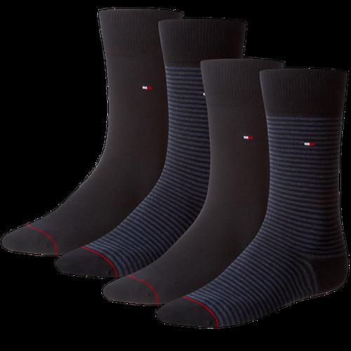 TOMMY HILFIGER Herren Socken Small Stripe Casual Socken 4er Pack