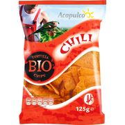 Acapulco Tortilla Chips Chili, 125 gr Packung