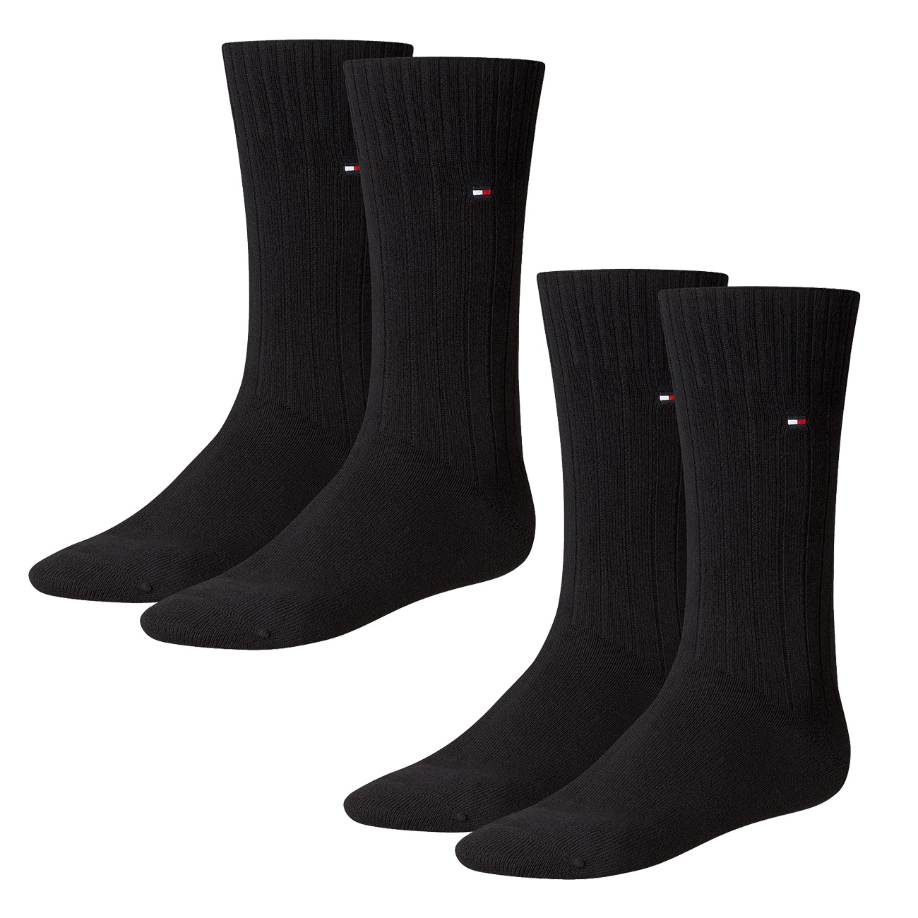 2 x Tommy Hilfiger Quater Socken Strümpfe Herren jeans blau Basic Fashion Socks