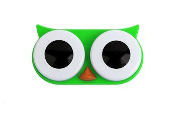 OWL Kontaktlinsenbehälter Eule - grün