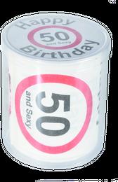 WC Toilettenpapier Happy Birthday 50, Geburtstag Scherzartikel Papier, Klopapier