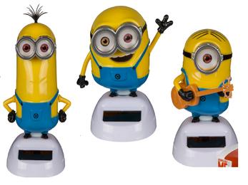 3 er Set Minions Bob, Stuart und Kevin Solar Figur