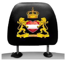 Kopfstützenüberzieher Austria mit Herz