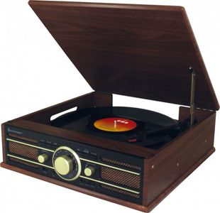 Soundmaster PL550BR Nostalgic-turntable in wooden Design with Encoding function – Image 1