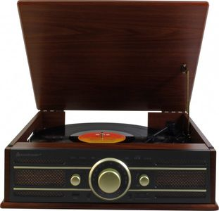 Soundmaster PL550BR Nostalgic-turntable in wooden Design with Encoding function – Image 2