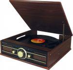 Soundmaster PL550BR - Stereo Plattenspieler mit UKW Radio, USB und Encoding 001