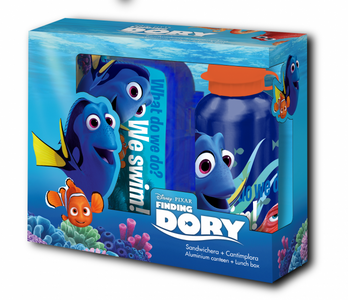 lunch box and bottle set with Disney Finding Dory theme – Image 1