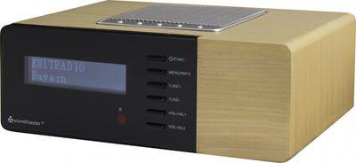 Soundmaster UR180HBR - DAB+/UKW PLL Uhrenradio im Holzdesign