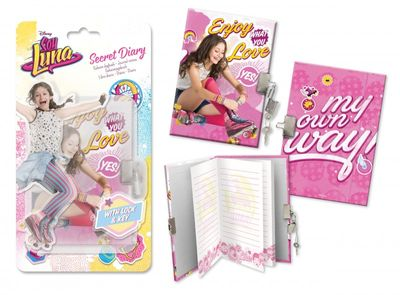 Diary with lock - Disney Soy Luna theme A6