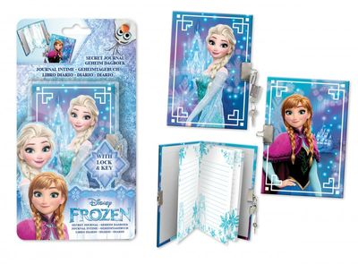 Diary with lock - Disney Frozen theme A6