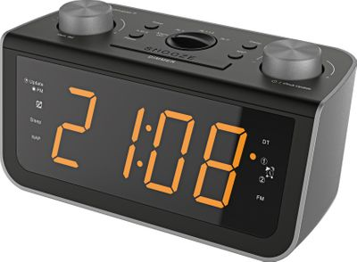 Soundmaster FUR5005 - FM PLL-Clock Radio with Jumbo Display and dualalarm – Image 1