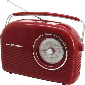 Soundmaster DAB450RO - DAB+ / UKW Retro Radio in rot