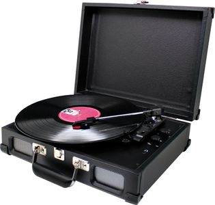 Soundmaster PL580 in black - Turntable player in Vinyl Wrapped – Image 1