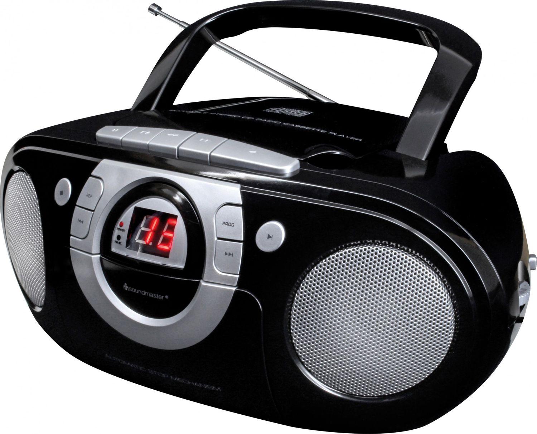 soundmaster scd5100sw radio kassettenspieler mit cd. Black Bedroom Furniture Sets. Home Design Ideas