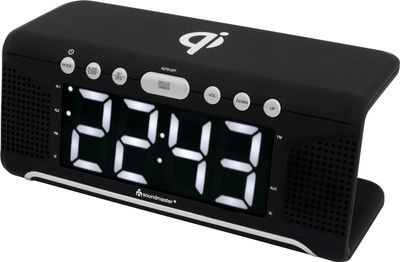 Soundmaster UR800SW Clock Radio with QI Charging Station – Image 3