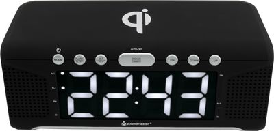 Soundmaster UR800SW Clock Radio with QI Charging Station