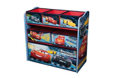 Disney Cars wooden shelf with storage boxes for children (Multi Toy Organizer)