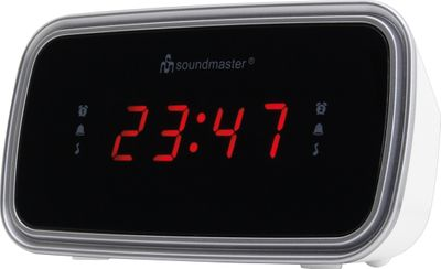 Soundmaster UR106WE FM-PLL Clock Radio