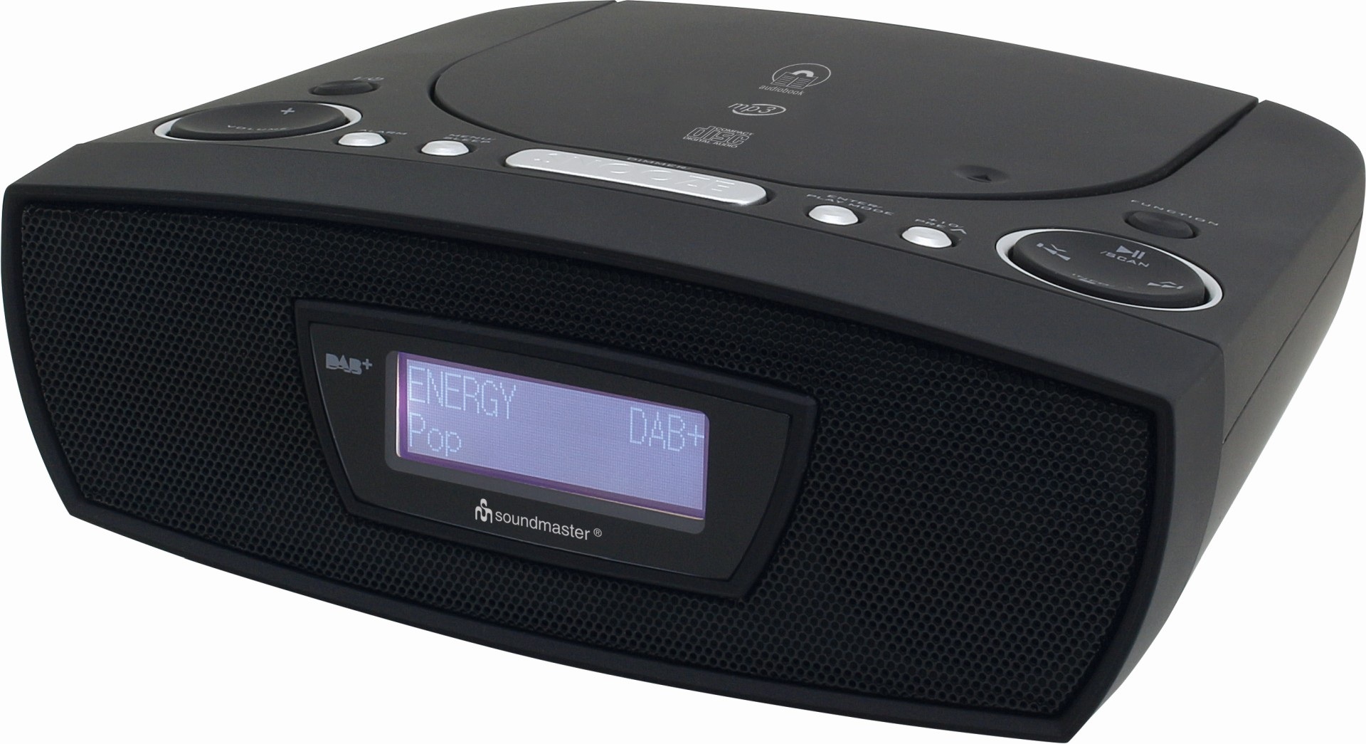 soundmaster urd480sw dab ukw digitaluhrenradio mit cd mp3. Black Bedroom Furniture Sets. Home Design Ideas