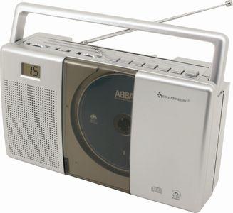 Soundmaster RCD1180 UKW Kofferradio mit CD-Spieler und Höhrbuchfunktion