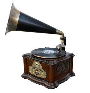 Soundmaster NR917 Grammophon-Stereo-Anlage mit Plattenspieler, UKW Radio, CD-MP3, USB und Bluetooth