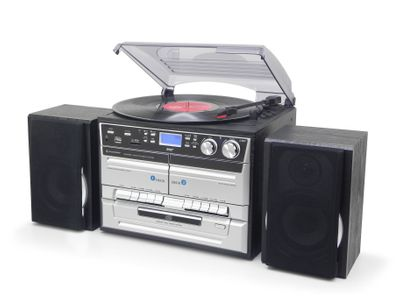 Soundmaster MCD5550SW Musiccentre with DAB+, Record Player, CD/MP3, Double Cassette and Encoding – Image 1