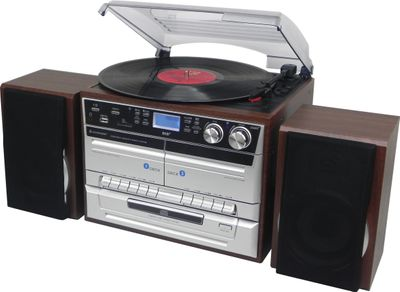 Soundmaster MCD5550DBR Musiccentre with DAB+, Record Player, CD/MP3, Double Cassette and Encoding