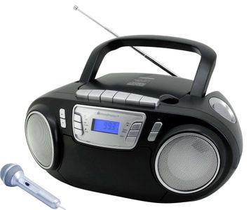 Soundmaster SCD5800SW CD MP3 Kassettenrekorder mit USB und Mikrofon